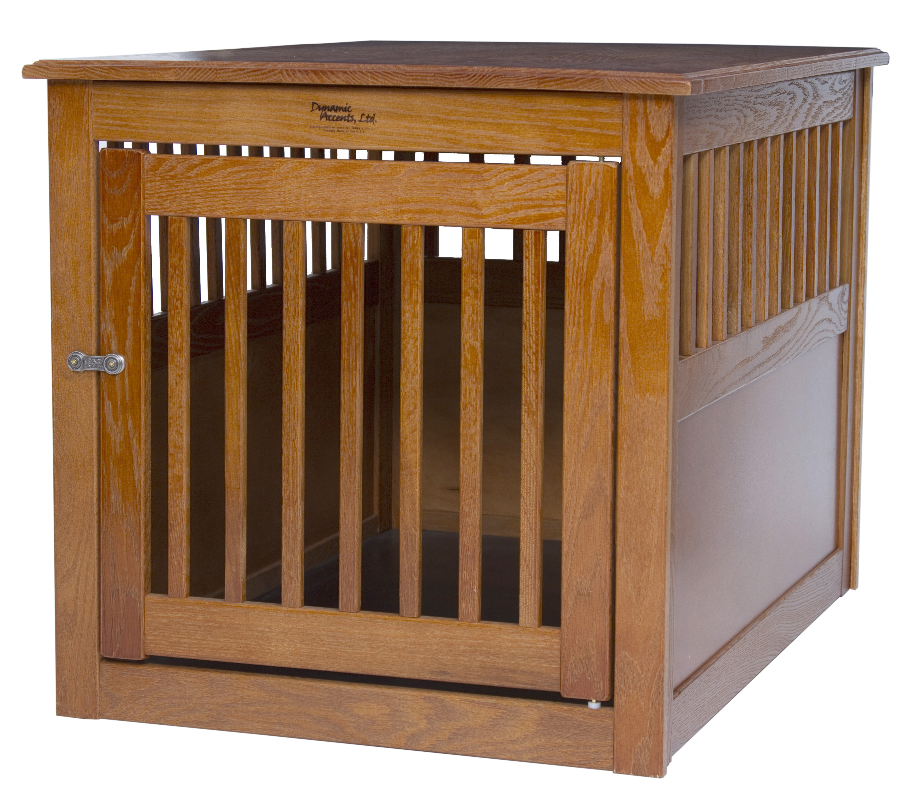 dynamic accents end table large dog pet crate hardwood