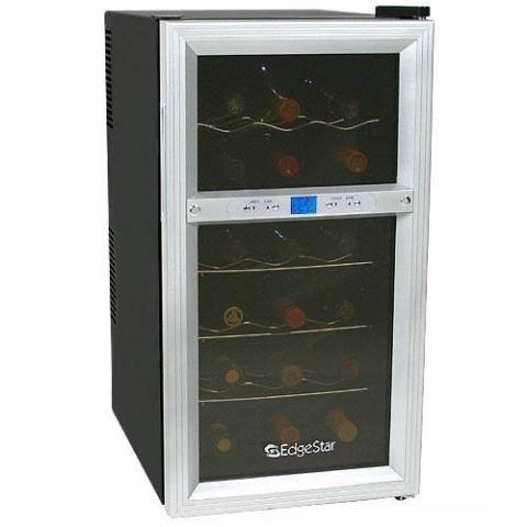 Edgestar 18 Bottle Dual Zone Digital Wine Cooler Cellar Ebay