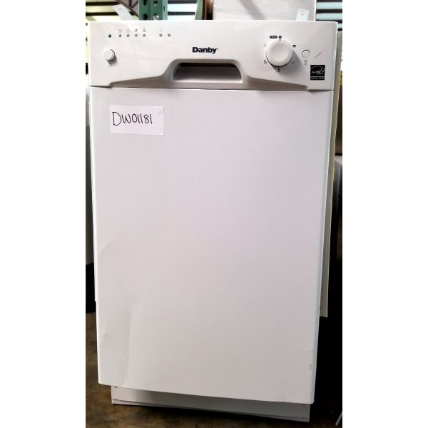 "Danby 18"" 8 Place Setting Energy Star Built In Dishwasher DDW1801MW 181"