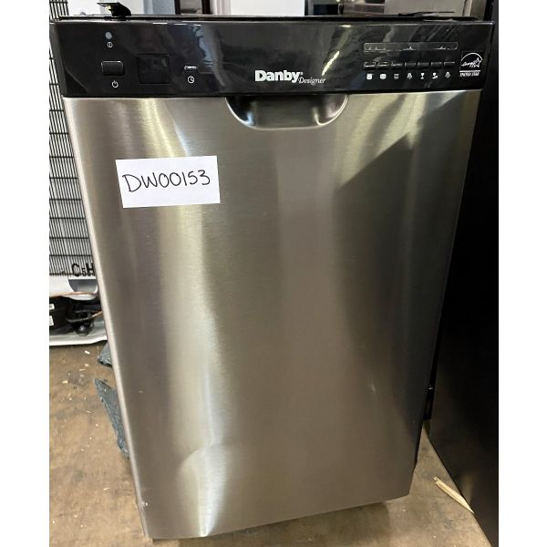 "Danby 18"" 8 Place Setting Stainless Built In Dishwasher DDW1802EBLS 153"