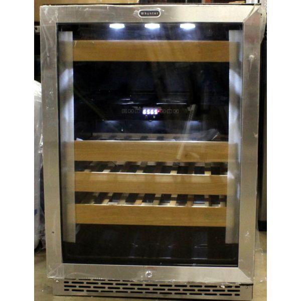 """Whynter 24"""" 46 Bottle Built-In Dual Zone Wine Cooler Chiller BWR461DZ"""