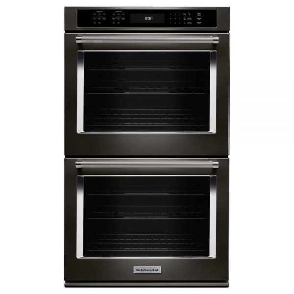 "KitchenAid 30"" Built In Electric Double Wall Convection Oven KODE500EBS"