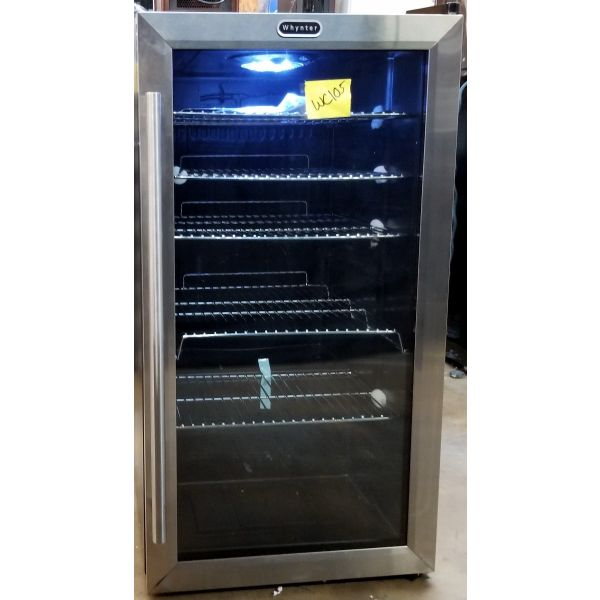 Whynter 117 Can Beverage Cooler Refrigerator Stainless Steel BR-125SD WC105