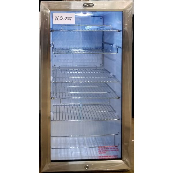 Whynter 120 Can Beverage Cooler Stainless Refrigerator With Lock BR-128WS 058