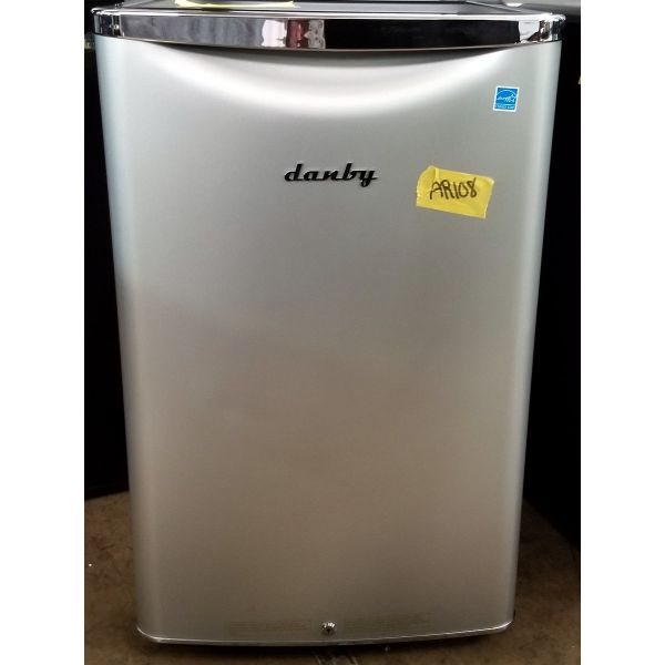 Danby Retro Style 4.4 CF Compact All Refrigerator Silver DAR044A6DDB AR108