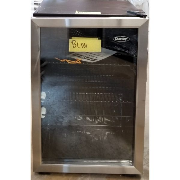 Danby 95 Can 2.6 CF Free Standing Beverage Center Fridge DBC026A1BSSDB BC116