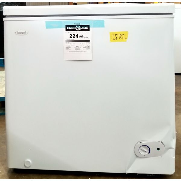 Danby 5.5 CF Chest Freezer, Garage Ready, White, Scratch & Dent DCF055A2WDB CF102
