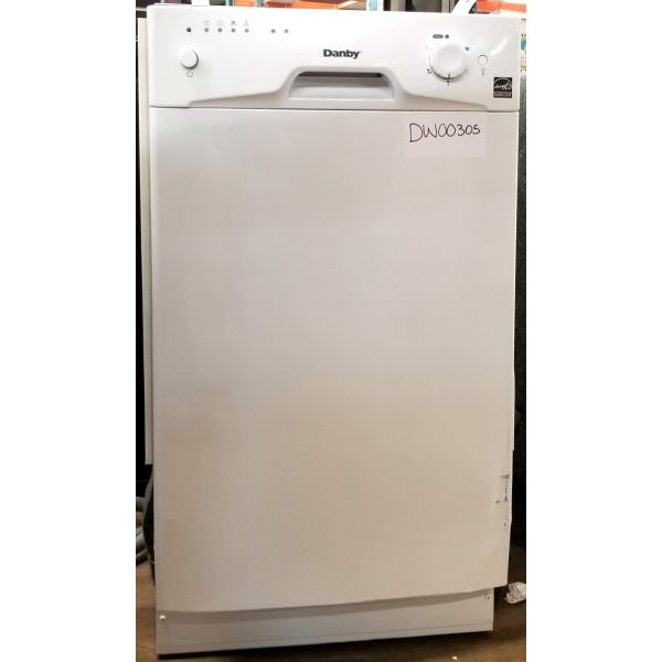 "Danby 18"" 8 Place Setting Energy Star Built In Dishwasher DDW1801MW 305"