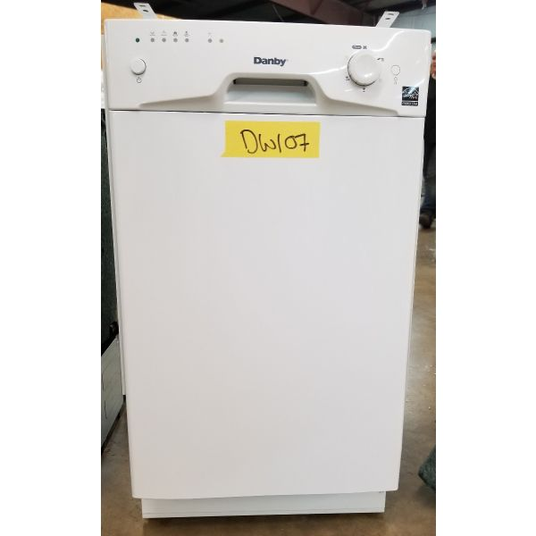 "Danby 18"" 8 Place Setting Energy Star Built In Dishwasher DDW1801MW DW107"