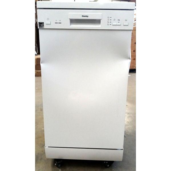"""Danby 18"""" 8 Place Setting Energy Star Portable Dishwasher White DDW1805EWP 229"""