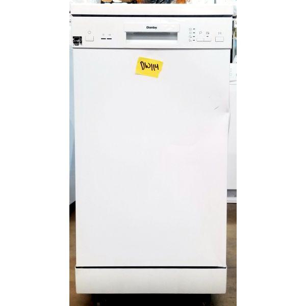 """Danby 18"""" 8 Place Setting Energy Star Portable Dishwasher White DDW1805EWP DW114"""