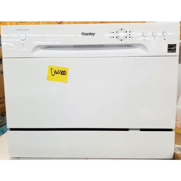 Danby 6 Place Setting Compact Counter-top Dishwasher White DDW621WDB DW100