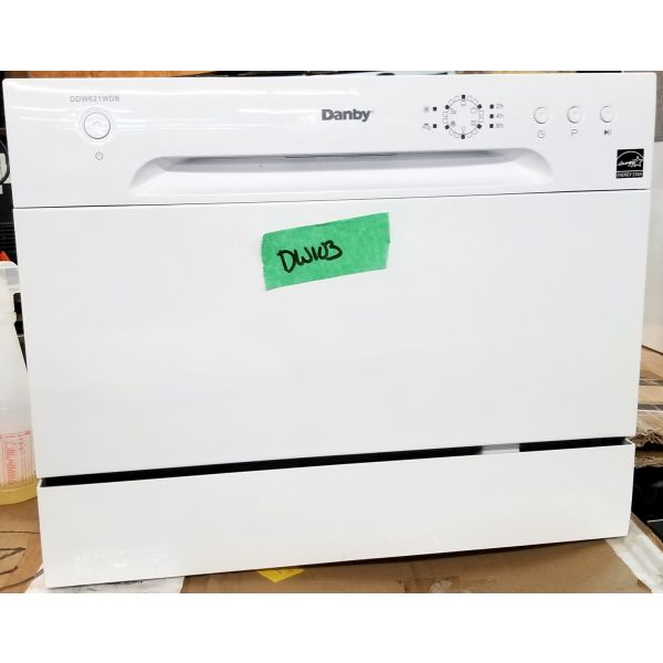 Danby 6 Place Setting Compact Counter-top Dishwasher White DDW621WDB DW103