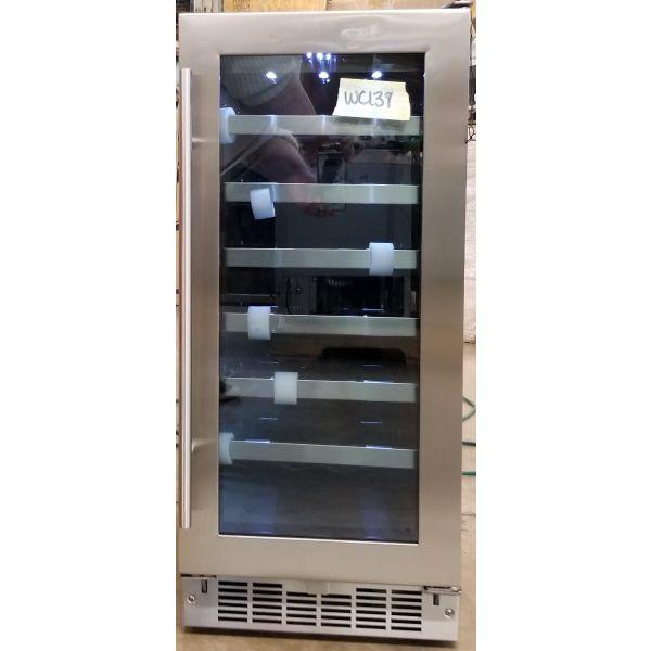 """Danby Silhouette 15"""" Built In 28 Bottle Wine Cooler DWC031D1BSSPR WC139"""