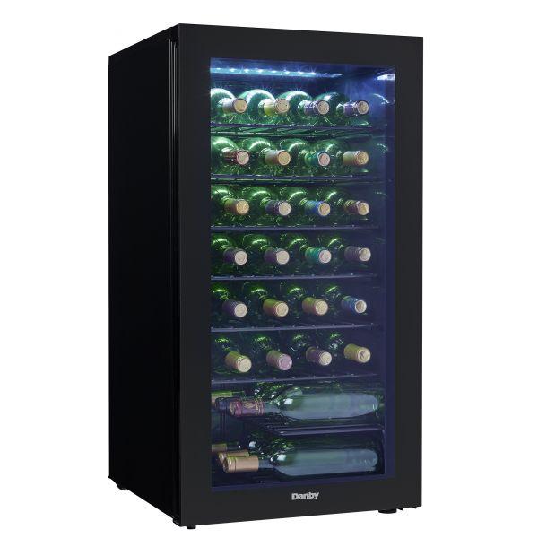 Danby 36 Bottle Freestanding LED Wine Cooler DWC032A2BDB