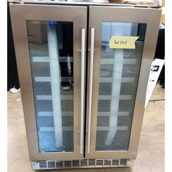 "Danby 24"" Stainless Steel French Door Wine Cooler DWC047D1BSSPR WC145"