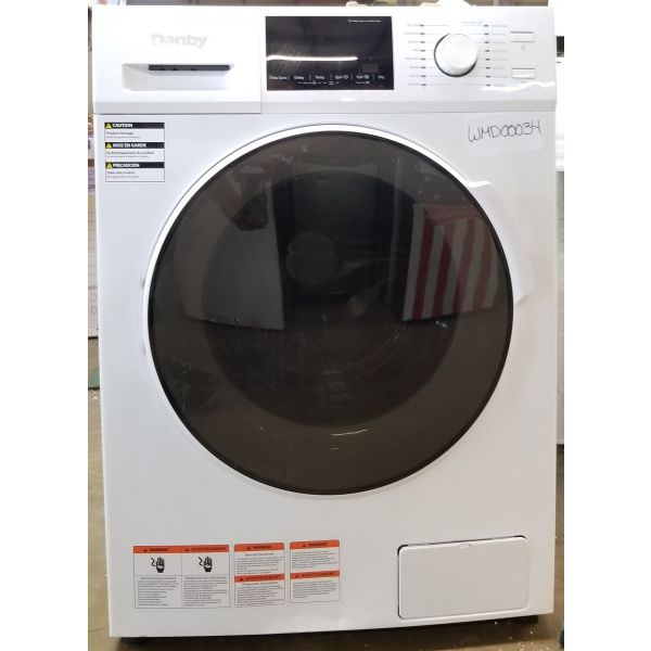 Danby All-in-One 2.7 CF Ventless Compact Washer Dryer Combo DWM120WDB 034