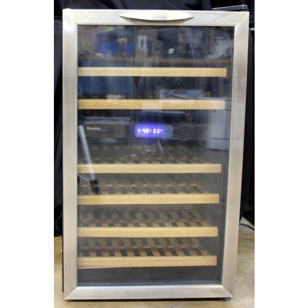 Danby Dual Zone Freestanding 30 Bottle Wine Cooler Stainless DWC283BLS