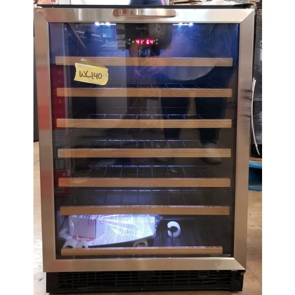 "Danby Designer Series 24"" Built-in 50 Bottle Wine Cooler DWC508BLS WC140"
