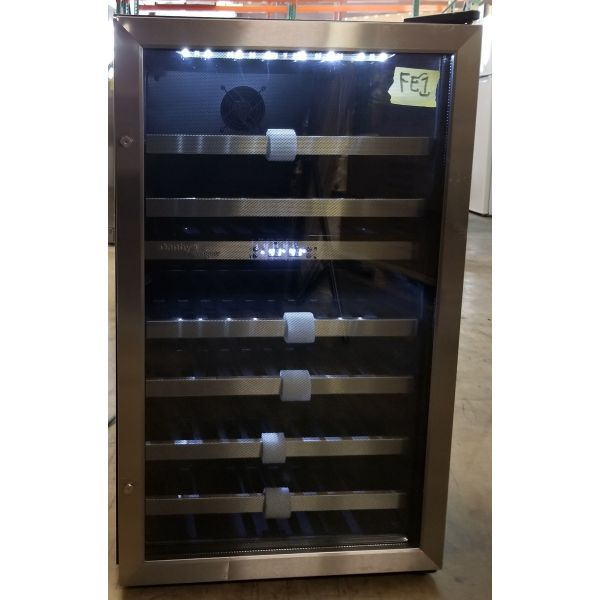 Danby 38 Bottle Dual Zone Freestanding Wine Cooler - DWC114BLSDD FE1