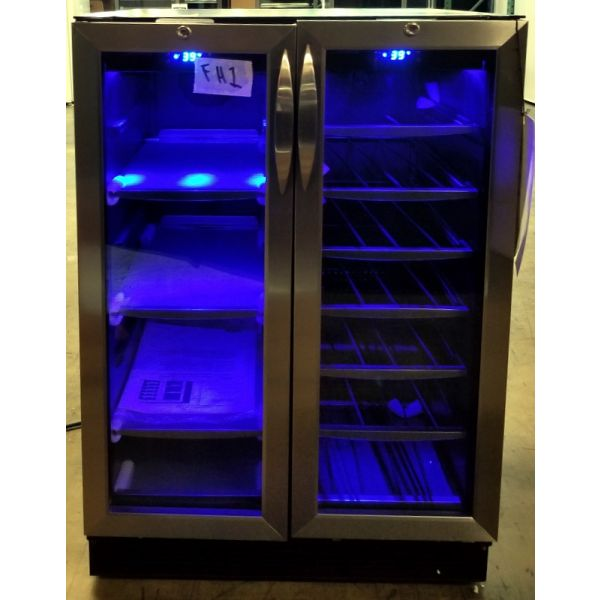Danby Dual Zone 27 Bottle Built-In French Door Beverage Wine Cooler DBC2760BLS FH1