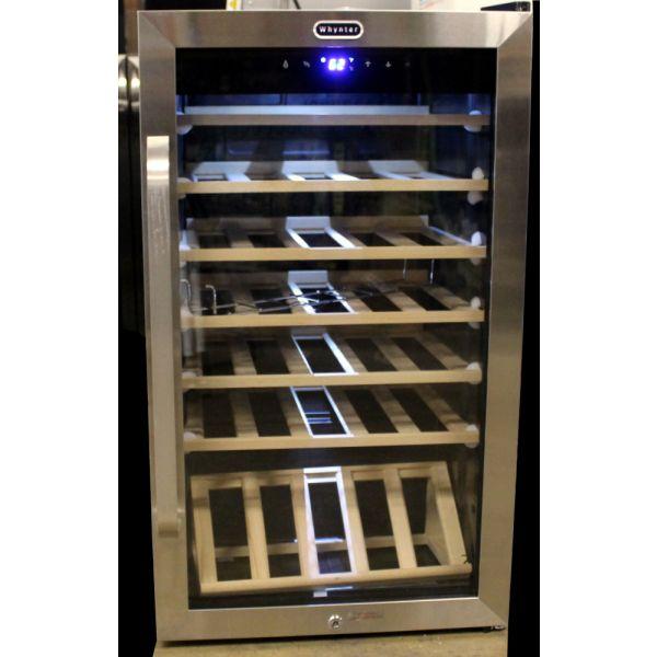 Whynter Freestanding 34 Bottle Wine Fridge, Touch Screen FWC-341TS