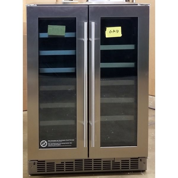 "Danby 24"" Stainless Steel French Door Beverage Center DBC047D3BSSPR GA13"