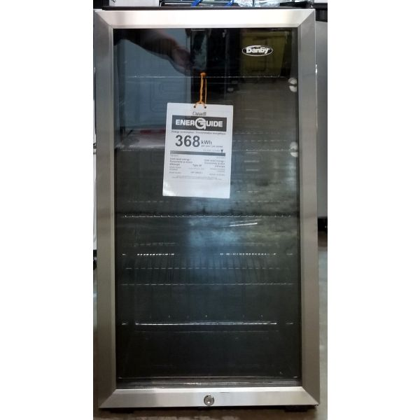 """Danby 120 Can 18"""" Freestanding Beverage Center, Stainless DBC120BLS_R GA2"""