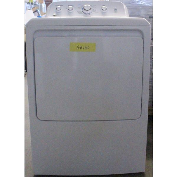 """GE 27"""" 7.2CF Long Vent 4 Cycle Gas Dryer, White GTD42GASJ2WW GAS100"""