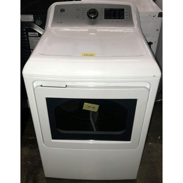 "GE 7.4 CF 27"" Smart Wifi Energy Star Quick Dry Gas Dryer GTD72GBSNWS GAS108"