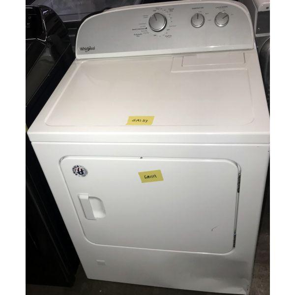 "Whirlpool 29"" 7.0 CF Auto Dry Gas Dryer, White WGD4815EW GAS113"