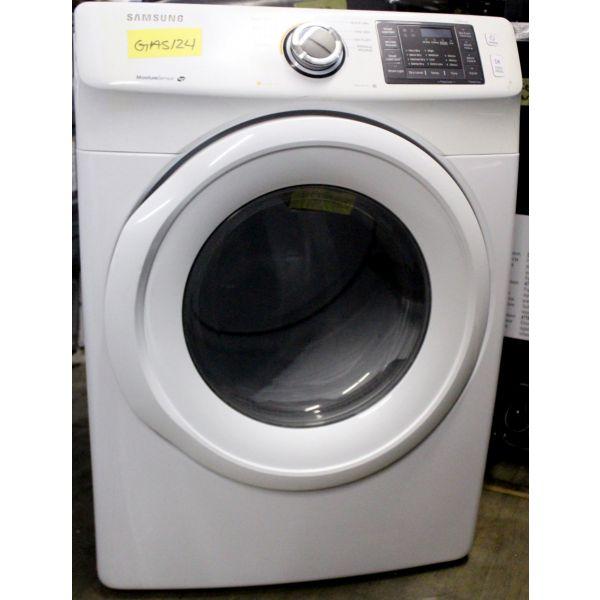 "Samsung 7.5 CF 27"" Gas Dryer with 9 Cycles, White DV42H5000GW GAS124"