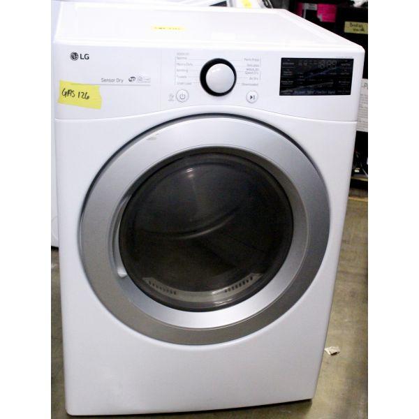 "LG 27"" 7.4 CF Energy Star Smart WiFi Gas Dryer, White DLG3501W GAS126"