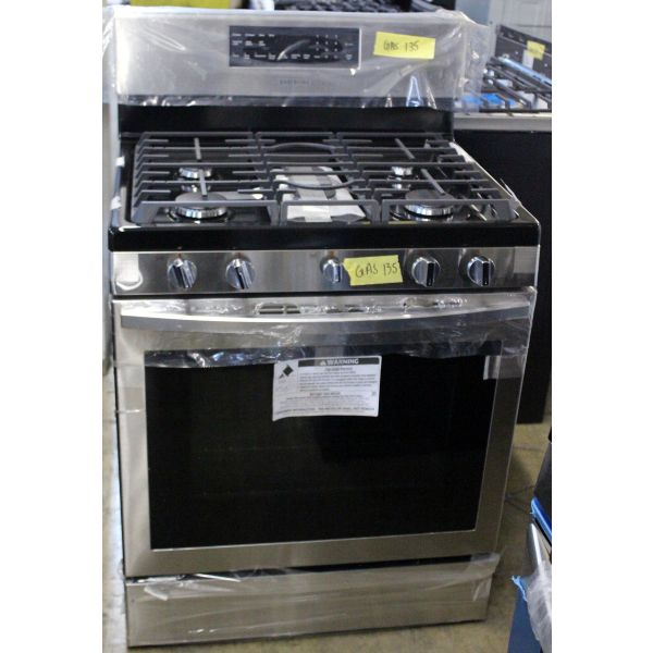 """Samsung 30"""" 5.8 CF Convection Oven Freestanding Gas Range NX58R5601SS GAS135"""