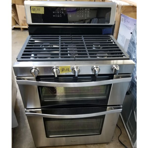 Whirlpool 6 CF Freestanding Double Convection Oven Gas Range WGG745S0FS GAS141