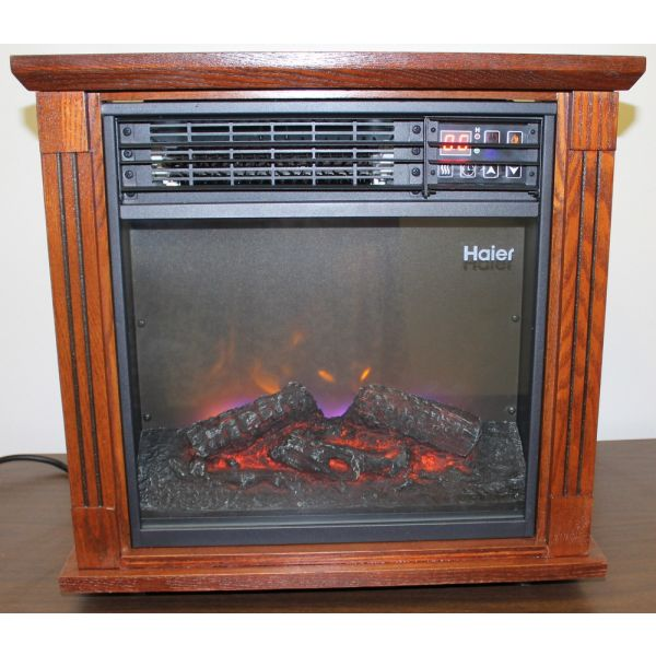 Haier Fireplace 3 Element Infrared Electric Heater HHF15CPC