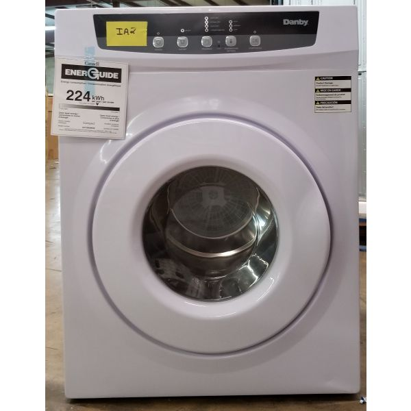 Danby 3.42 Cu Ft Portable Electric Dryer White DDY060WDB IA2