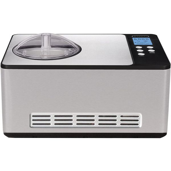 Whynter 2.1 QT Stainless Steel Counter Top Automatic Ice Cream Maker ICM-200LS IMC103