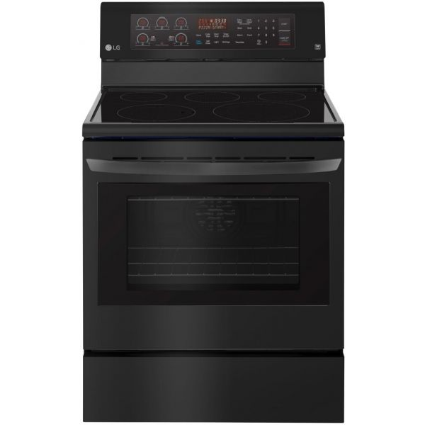 """LG 30"""" Freestanding Smooth Top Electric Range, Convection Oven LRE3194BM 574"""