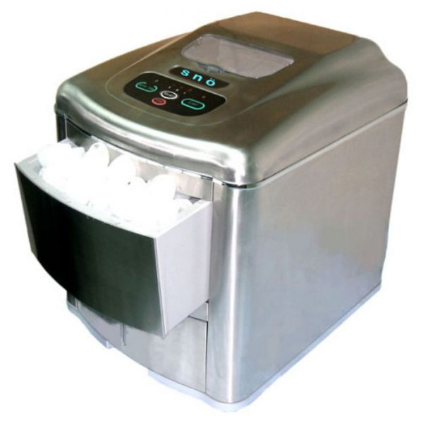 Whynter Snow Portable 35lb Stainless Ice Maker, Nickle Finish T-2M/AS