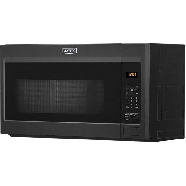 NIB Maytag 1.9CF Over the Range Microwave, Cast Iron Black MMV1175JK
