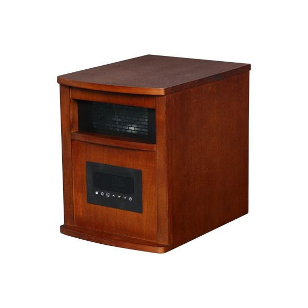 LifeSmart 6 Element Infrared Portable Space Heater, Oak Finish PCHT1009US