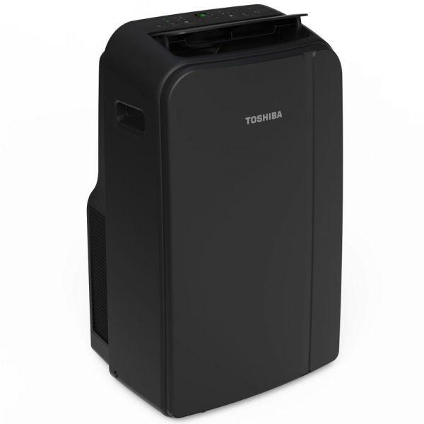 LP Toshiba 13,500 BTU Portable Air Conditioner with Heat Black RAC-PD1411HRU