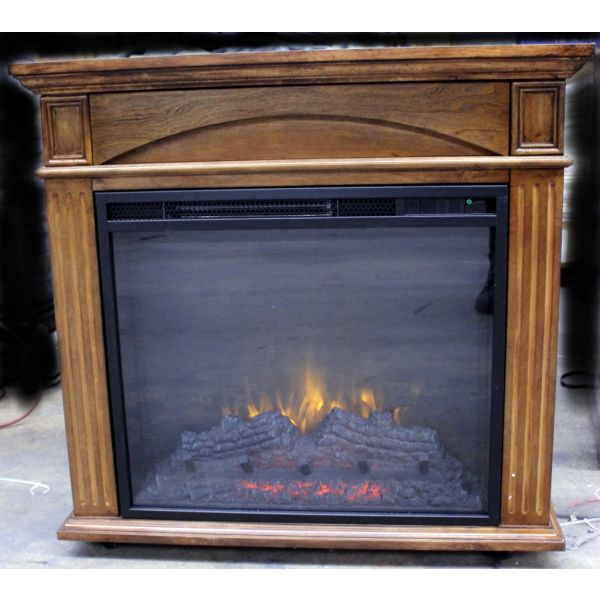 HearthPro Rolling Storage Infrared Fireplace Heater w/Remote SP6152