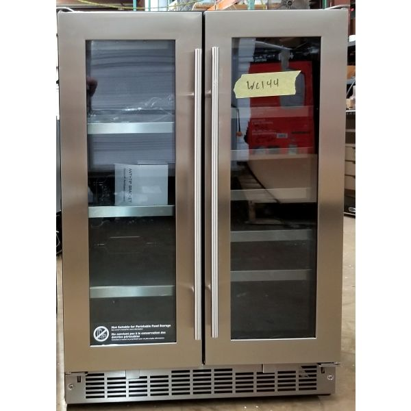 """Danby 24"""" Stainless Steel French Door Beverage Center DBC047D3BSSPR WC144"""
