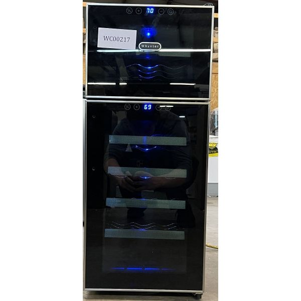 Whynter 21 Bottle Dual Zone Freestanding Thermoelectric Wine Cooler WC212BD 217