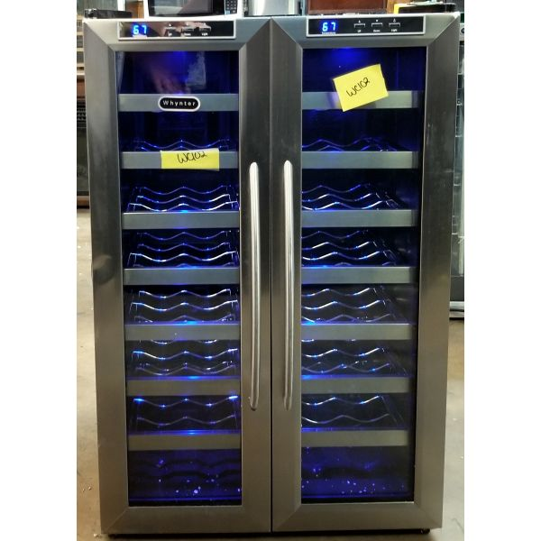 Whynter 32 Bottle Dual Zone Freestanding Wine Cooler WC-321DD WC102