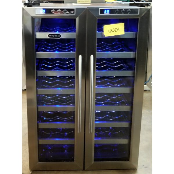 Whynter 32 Bottle Dual Zone Freestanding Wine Cooler WC-321DD WC104