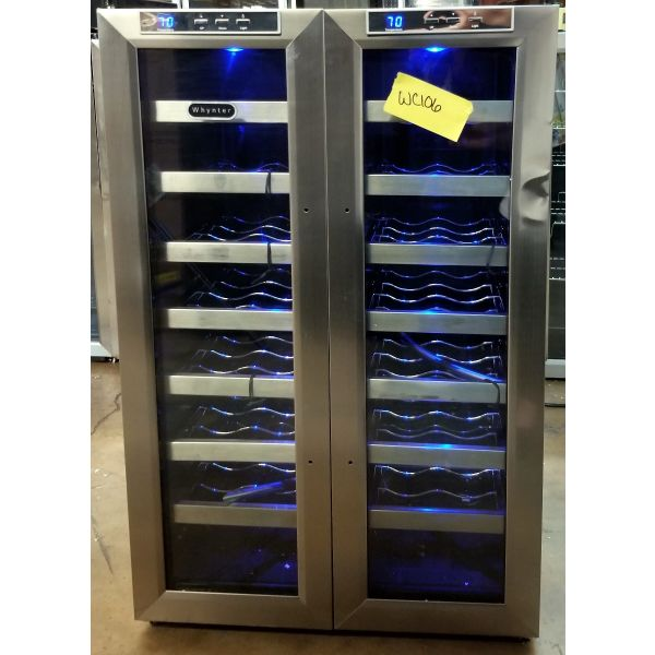 Whynter 32 Bottle Dual Zone Freestanding Wine Cooler WC-321DD WC106