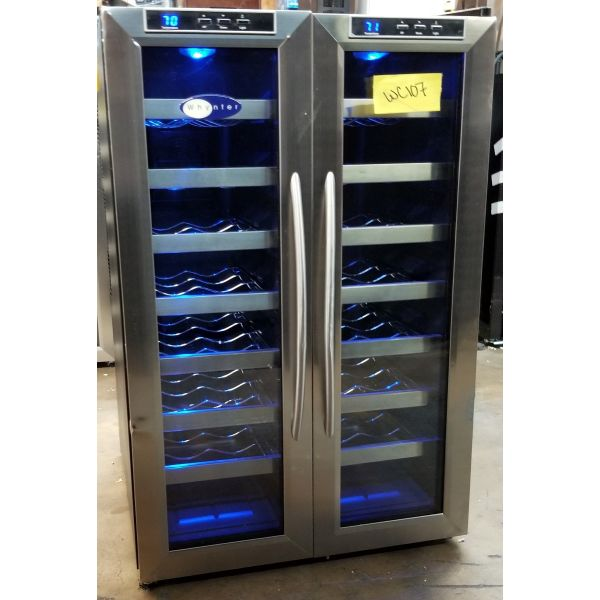 Whynter 32 Bottle Dual Zone Freestanding Wine Cooler WC-321DD WC107
